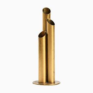 Vase par Ivar Ålenius Birch pour Ystad Metall, Suède