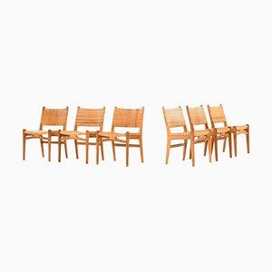 Model CH-31 Dining Chairs by Hans Wegner for Carl Hansen & Son in Denmark, Set of 6