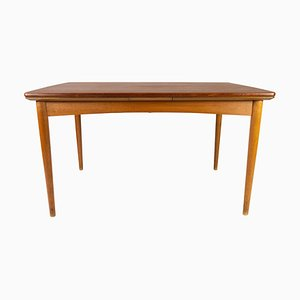 Danish Dining Table in Teak with Extensions and Legs in Oak, 1960s