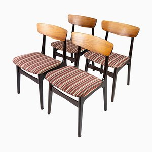 Danish Dining Room Chairs in Rosewood, 1960s, Set of 4