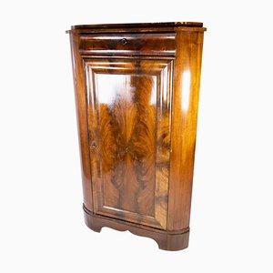 Large Antique Corner Cabinet in Mahogany, 1840s