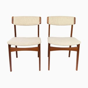 Teak Dining Room Chairs by Erik Buch, 1960s, Set of 2