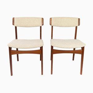 Teak Esszimmerstühle von Erik Buch, 1960er, 2er Set