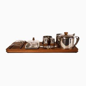 Danish Teak and Stainless Steel Breakfast Set, 1960s