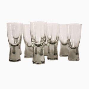 Dänische Holmegaard Canada Rauchglas Gläser von Per Lutken, 1950er, 8er Set
