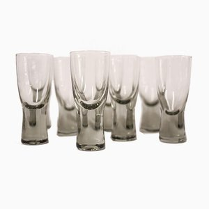 Danish Holmegaard Canada Smoked Glass Glasses by Per Lutken, 1950s, Set of 8