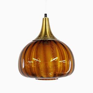 Swedish Onion Pendant Lamp from Orrefors, 1960s