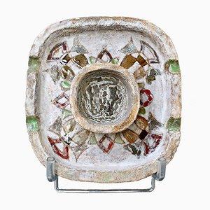 Decorative French Ceramic Ashtray / Vide Poche by Fernande Kohler, 1960s