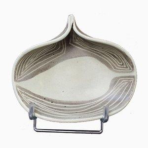 Vintage Keramikschale mit Klemmgriff von Mado Jolain, 1960er