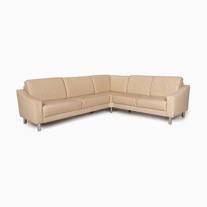 Cream Leather Sofa from Gepade