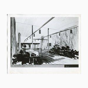 Bâtiment Capitol Records, Entrée principale, 1957