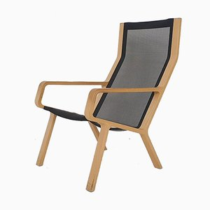 Laminated Beech and Gauze Lounge Chair