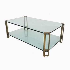 Brass and Glass Coffee Table by Peter Ghyczy for Ghyczy, 1970s