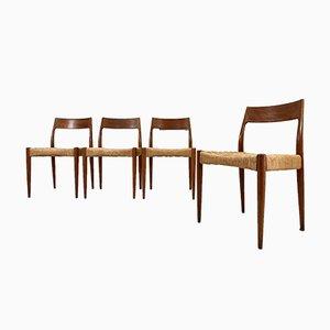 Chaises de Salon Modèle 77 par Niels Moller, Set de 4
