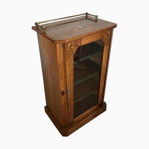 Antique Inlaid Walnut Music Cabinet