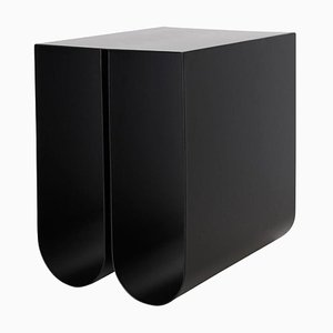 Black Curved Side Table by Kristina Dam Studio