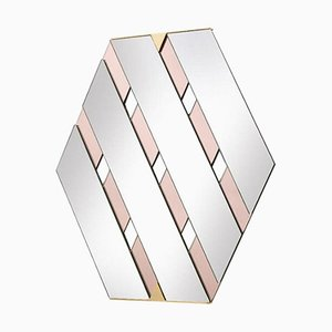 Pink Tresse Mirror by Mason Editions