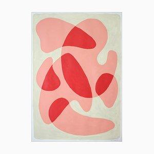 Abgerundete einfache Formen in warmen Farbtönen, Pastellfarbene Palette, 2021