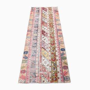 Handgeknüpfter Türkischer Vintage Flickenteppich aus Wolle