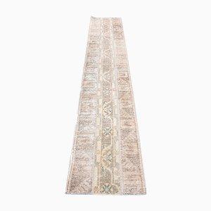 Ethnischer brauner türkischer Vintage Flur Teppich