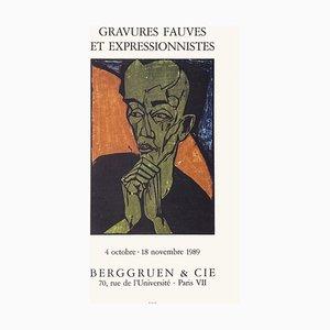 Póster de Expo 89 Berggruen Et Cie, grabados y expresionismo salvaje, Emil Nolde