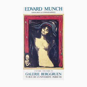 Poster Expo 83 Galerie Berggruen di Edvard Munch