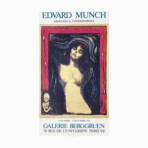 Poster Expo 83 Galerie Berggruen par Edvard Munch