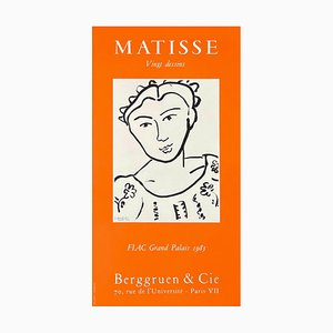 Affiche Expo 85 Berggruen Et Cie par Henri Matisse