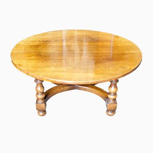 Circular Solid Oak Coffee Table from Titchmarsh & Goodwin