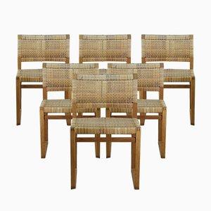 BM 61 Chairs by Børge Mogensen for Lauritsen & Søn, Set of 6