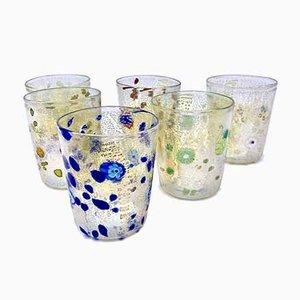 Bicchieri Gertrude vintage in vetro di Murano di Mariana Iskra per Ribes Atelier, Italia, inizio XXI secolo, set di 6