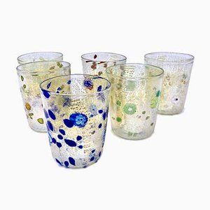 Vintage Italian Murano Gertrude Glasses by Mariana Iskra for Ribes Atelier, 2000s, Set of 6