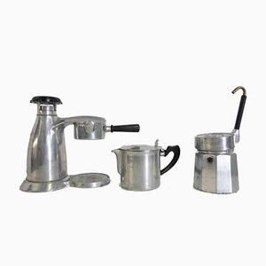 Large Vesuviana Coffee Pots or Cafetières from OMG, Italy, 1960s, Set of 3