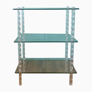 French Acrylic & Glass Etagere, 1960s