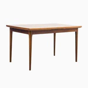 Tavolo da pranzo allungabile in legno di noce di Lübke, anni '60