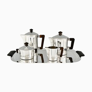 Art Deco Silvered Tea and Coffee Set from Ercuis, Set of 5