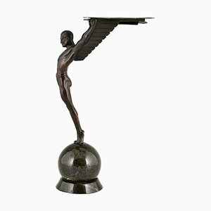 Art Deco Icarus Sculpture of a Winged Athlete after Schmidt Hofer