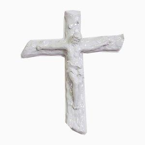Christ on the Cross in Ceramic, 1970s