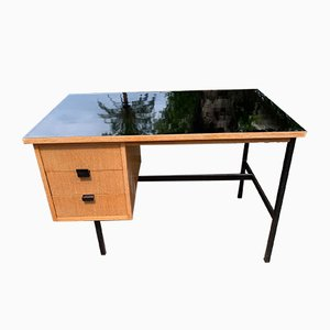 Wooden Desk by Jacques Hitier, 1950s
