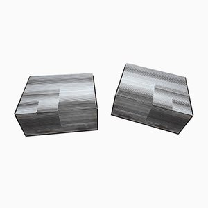 Coffee Table with Black Lacquered Wooden Top and Polished & Lacquered Metal by Nerone and Gianni Patuzzi for Gruppo NP2, 1970s