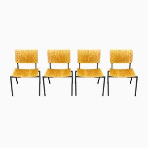 Industrielle Esszimmerstühle, 1960er, 4er Set