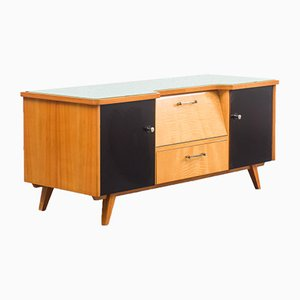 Two-Tone Dresser with Glass Top, 1950s