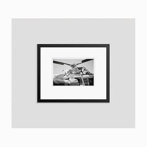 Monroe on Time Archival Pigment Print Framed in Black by Bettmann