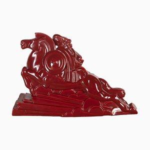 Statua Valkyrie Art Déco di Charles Lemanceau, Francia