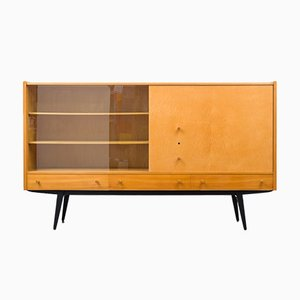 Cabinet or High Sideboard in Ash & Maple, 1950s