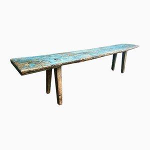 Antique Blue Brocante Wooden Bench