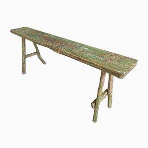 Brocante Wooden Bench in Green