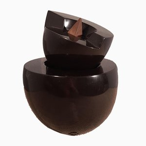 Skulptur aus schwarzem Marmor & Eisen von Pietro Cascella