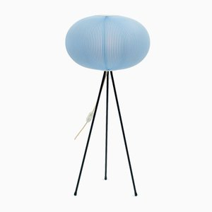 Tripod Lamp with Pleated Shade, 1950s