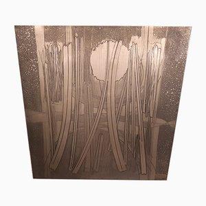 Decorative Green Copper Panel by Victor Cerrato, 1970s